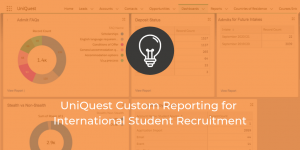 UniQuest custom reporting international student recruitment