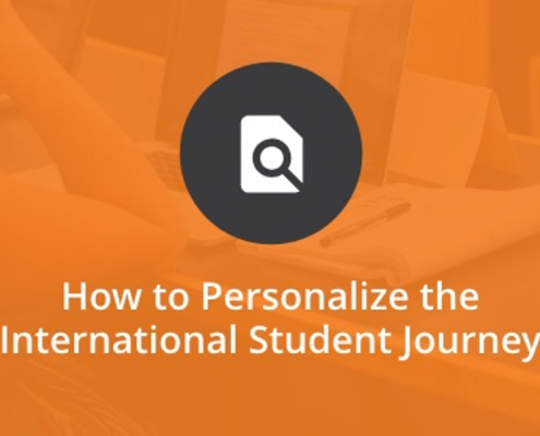personalize the international student journey